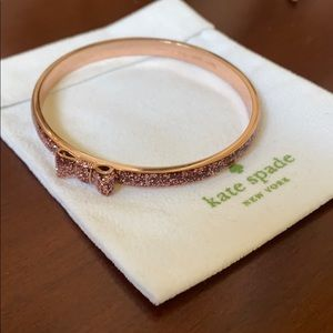 Kate Spade ♠️ Rose Gold Glitter Bangle